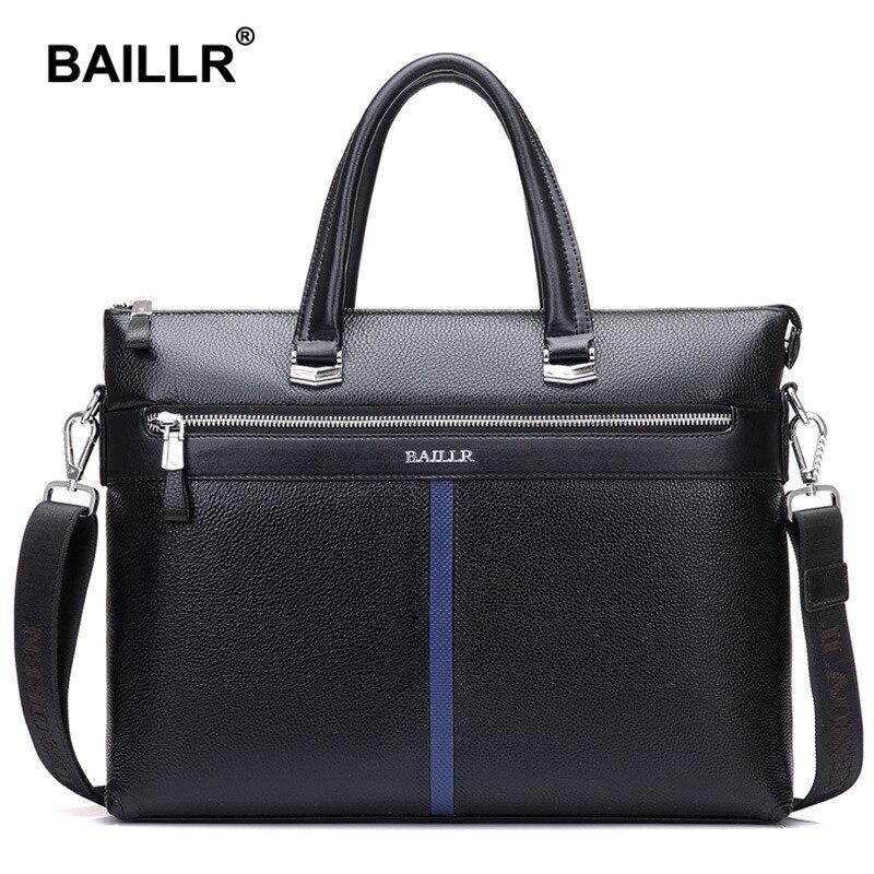 Brand Genuine Leather Luxury Men's Bag Briefcase Business Men Messenger Bag Fash