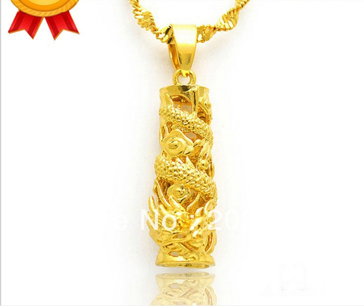 Fashion 2013mens gold plated dragon pendant necklace columns24k fashion 2013mens gold plated dragon pendant necklace columns24k gold plated jewelry chains necklaces in pendants from jewelry accessories on aloadofball Images