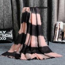 Осенне-зимний клетчатый женский шарф, женский модный камвольный унисекс акриловый базовый шарф, шали, женские вязаные осенние кашемировые одеяла