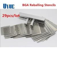 Newest 29pcs Universal Direct Heating BGA Stencils Templates Reballing Jig For Chip Rework Repair Soldering Kit