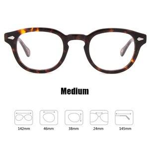 Image 3 - Johnny Depp Glasses Men Women Computer Goggles Round Transparent Eyeglass Brand Design Acetate Style Vintage Frame sq004