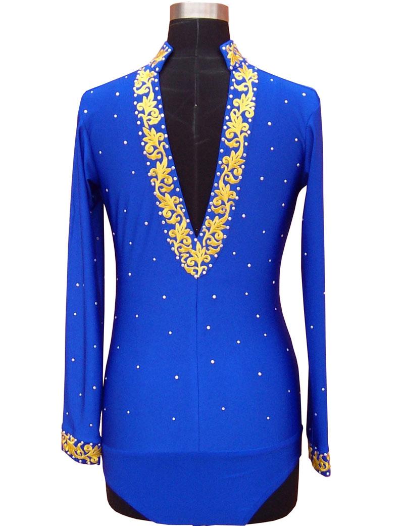 Синий, фиолетовый, красный, черный Мужская бальная рубашка для латинских танцев со стразами и воротником с длинным рукавом