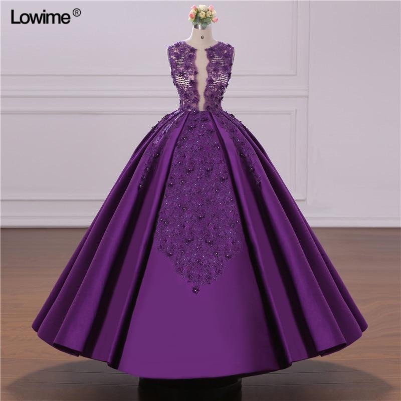 African Ball Gown Evening Dress 2018 Turkish Arabic Dubai Crystal ...