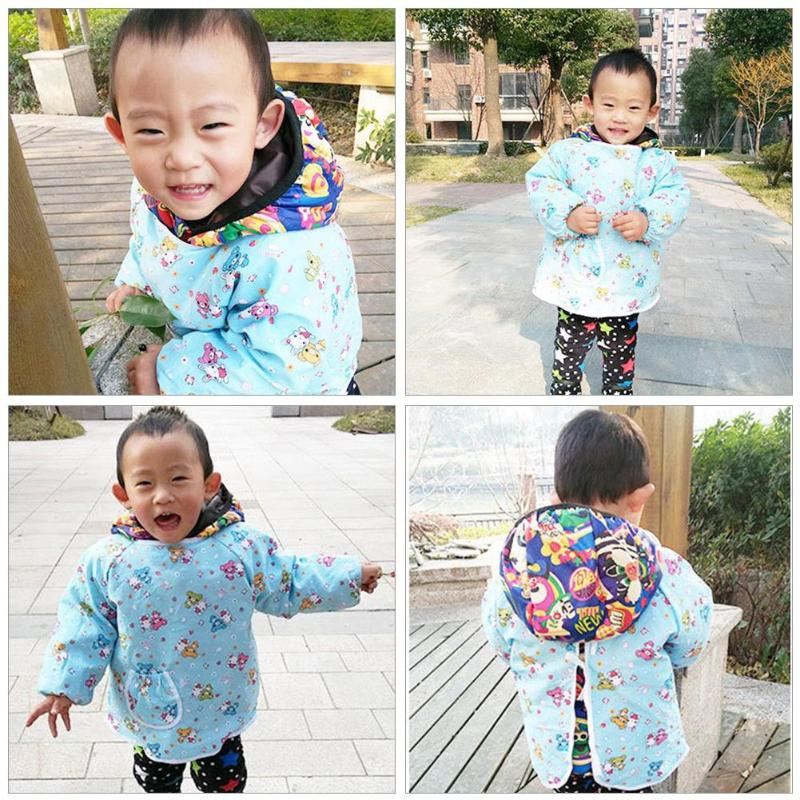 Cartoon Animals Baby Bibs Long Sleeve Waterproof Bib Baberos Infant Burp Cloths Coverall For baby Feeding Accessories