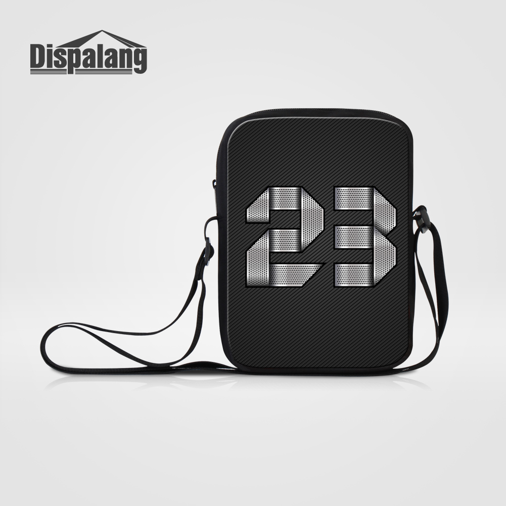 Dispalang High Quality Satchel Small Single Shoulder Bags Men Casual Business Messenger Bag Metal Number 23 Design Crossbody Bag