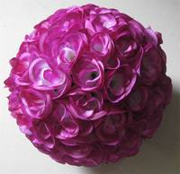 Silk Flower Ball Lilac 30cm Wedding Decoration Kissing Ball For Hotel Decoration Or Garden Decoration