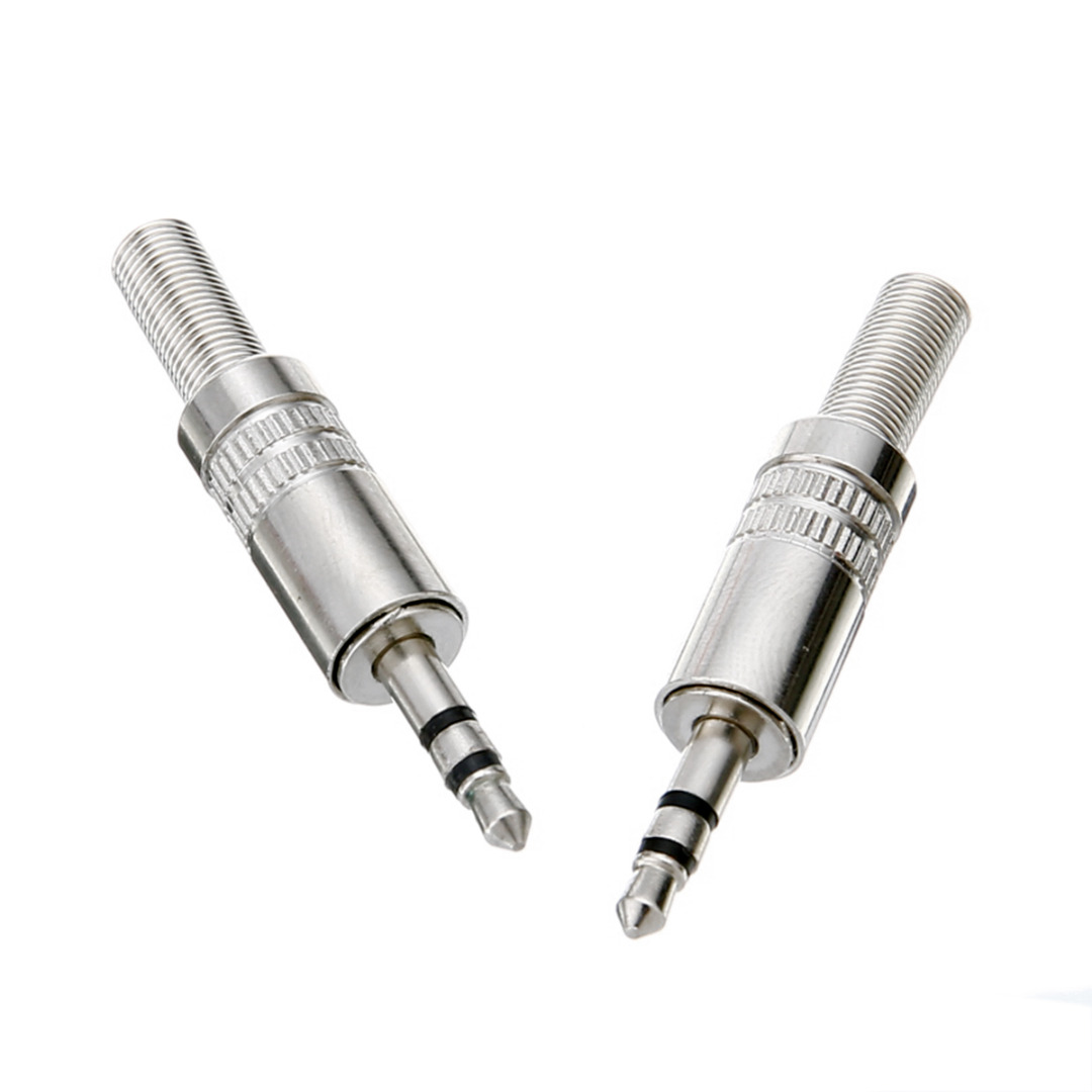 2pcs 3 Pole 3.5mm Stereo Headphone Male Plug Jack Audio Solders Connector For Headphone Earphone Repair