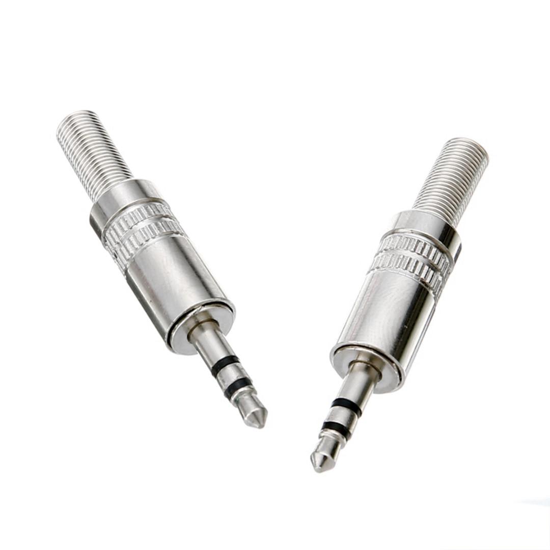 2pcs 3 Pole 3.5mm Stereo Headphone Male Plug Jack Audio Solders Connector for Headphone Earphone Repair|Plug & Connectors| |  - title=