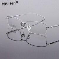 width 140 Pure titanium eyeglass frame ultra light glasses business men myopia half frame optical spectacles frames glass male