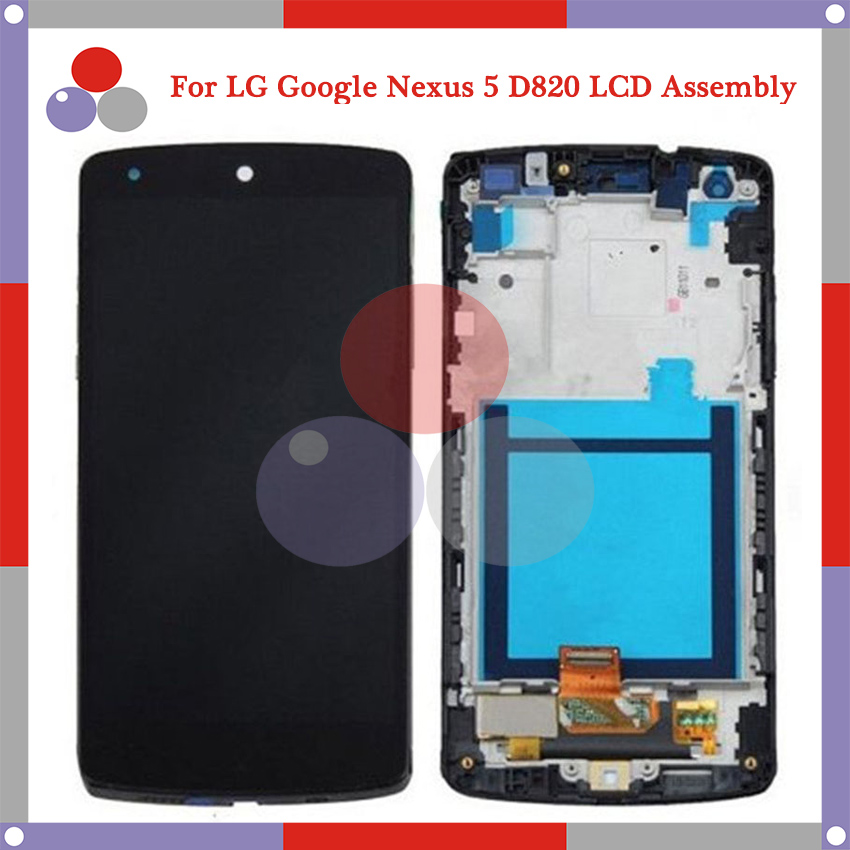 4.95 For LG Google Nexus 5 D820 D821 LCD Screen Display + Touch Screen Digitizer Assembly Frame Free shipping for lg google nexus 5 d820 d821 lcd screen display with touch screen digitizer assembly frame by free shipping 100% warranty