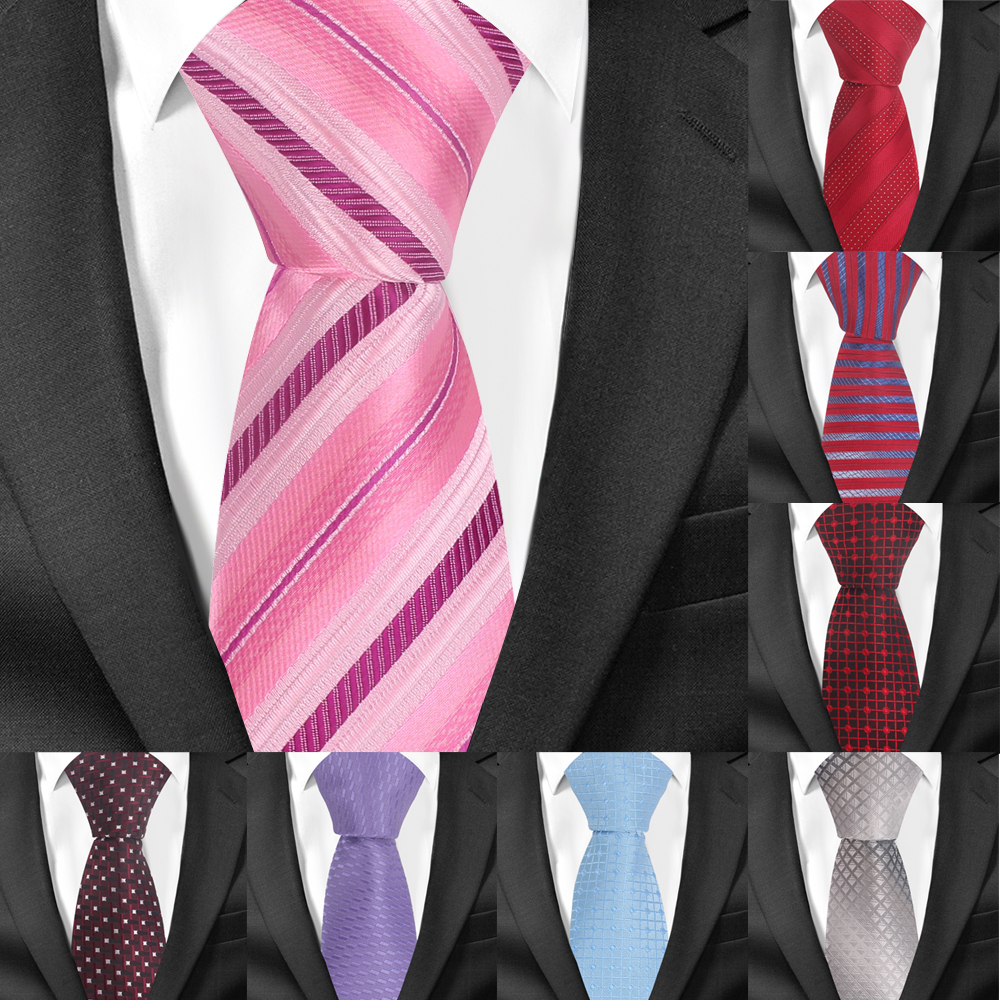 Fashion Classic Necktie For Men Women Striped Slim Men Ties Fashion Plaid Tie Groom Neck Tie For Party Wedding Corbatas Gravata