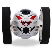 Wireless Remote Control 2.4G RC Bounce Car LED Night Lights Car(White + black)
