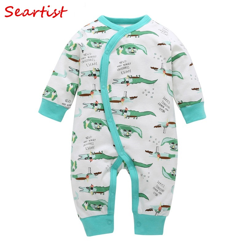 Seartist 2018 New Newborn Jumpsuit Cartoon Spring Winter Long Sleeve Romper Baby Girl Boy Clothes Bebes Clothing Body Suit 35C newborn autumn winter jumpsuit baby clothes cartoon romper boy and girl costume fleece clothes bebes long sleeved rompers
