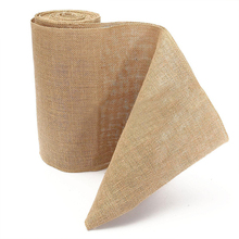 10M Vintage Table Runner Burlap Hessian Ribbon Wedding Party Craft Decor High Quality Table Runner Natural Jute Decoration Roll