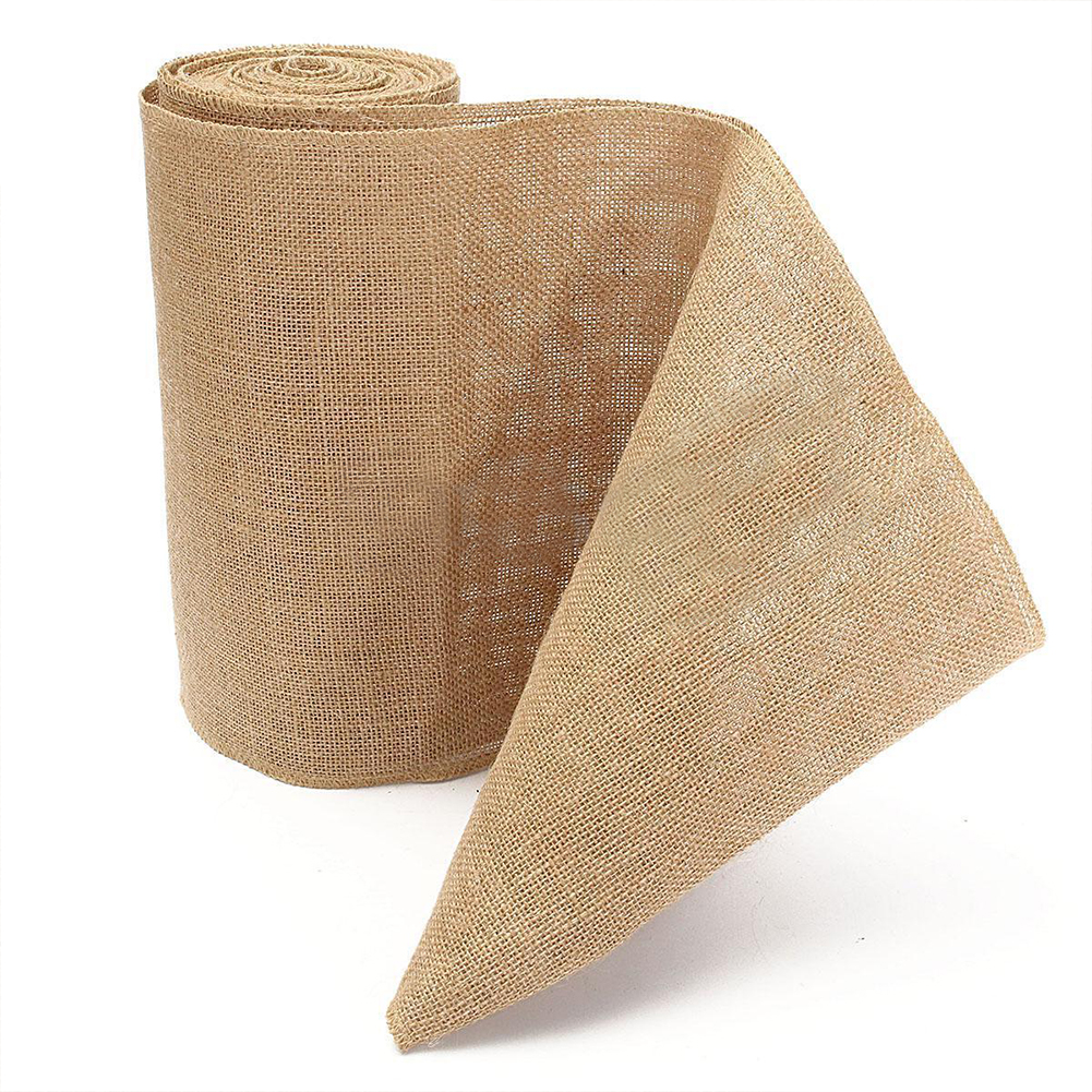 10M Vintage Table Runner Burlap Hessian Ribbon Wedding Party Craft Decor High Quality Table Runner