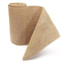 10M Vintage Table Runner Burlap Hessian Ribbon Wedding Party Craft Decor High Quality
