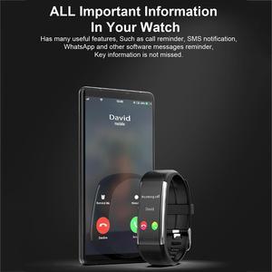 Image 5 - Смарт часы R1 для мужчин и женщин, фитнес трекер с функцией измерения пульса и давления, спортивные наручные часы для Ios, Android, PK, Mi Band 4