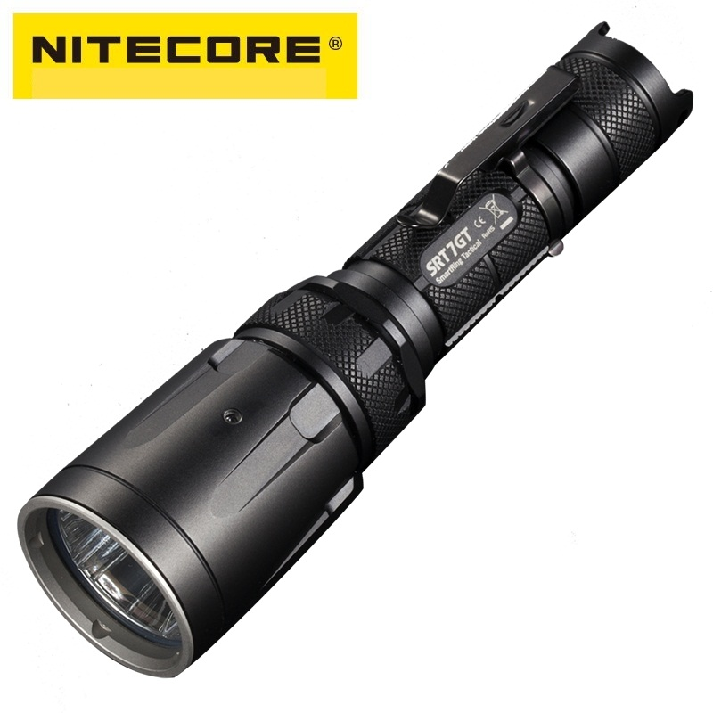 NiteCore SRT7GT Torch Flashlight Cree XP-L HI V3 1000LM Red Green Blue UV LED Flashlight by 18650 Battery for Camping