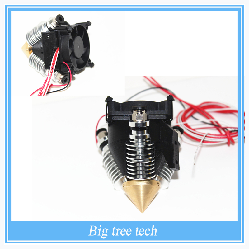 3 into1 out Multi Color Multi nozzle brass nozzle extruder nozzles with heatsink with cooling fan full kit 0.4mm for 1.75mm