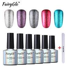 FairyGlo DIY Nail Art Kits 1 Buffer File 1 Bling Gel Polish Platinum Nail Gel Set Soak off Gel Polish Kit Nail Tool Gel Lak