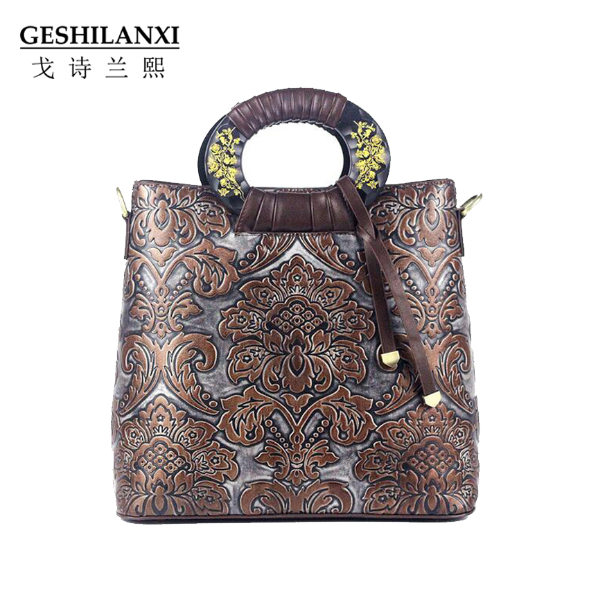 GESHILANXI 2017 Women Totes Shoulder Bag PU Leather Designer Brands Luxury Female bags Top-handle bags Palace style Handbag lafestin luxury shoulder women handbag genuine leather bag 2017 fashion designer totes bags brands women bag bolsa female