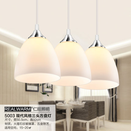 Restaurant light chandelier decorated with three LED lamps modern minimalist living room lamp bedroom lamp pastoral Continental