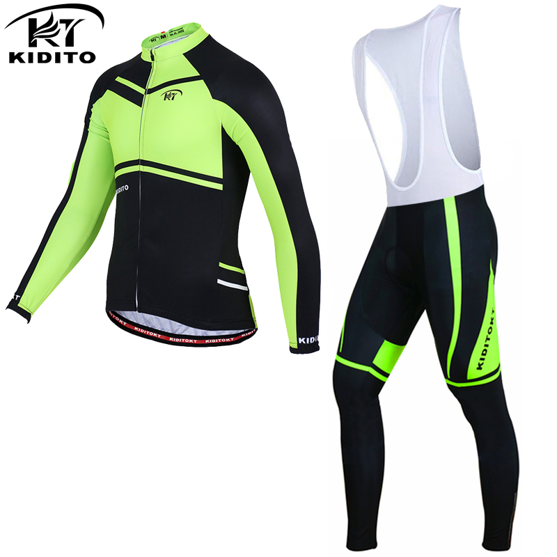 KIDITOKT 2017 Long Sleeve Winter Keep Warm Cycling Jersey Thermal Fleece Bicycle Wear Ropa Ciclismo Invierno Bike Clothing Set black thermal fleece cycling clothing winter fleece long adequate quality cycling jersey bicycle clothing cc5081