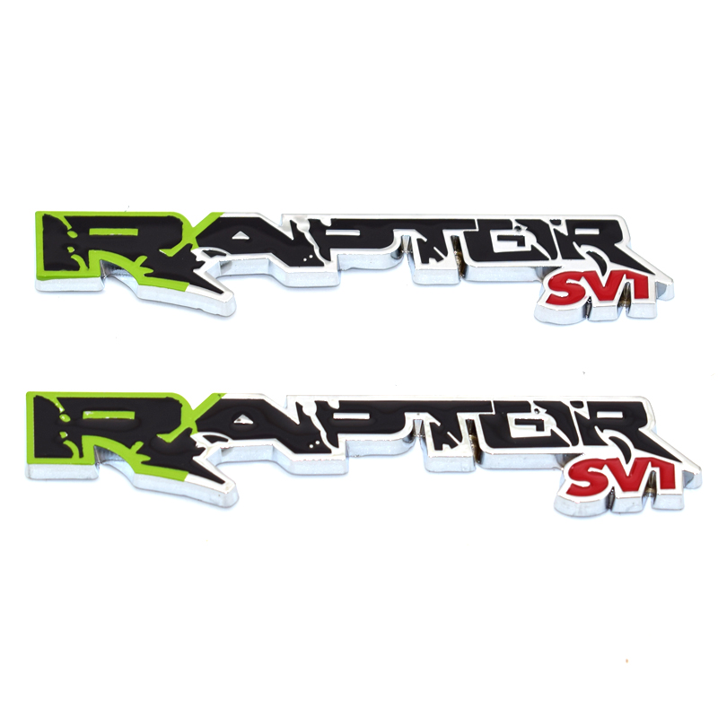 3D SVT Raptor Symbol Car Styling Body Emblem Sticker for New 150 SVT Raptor