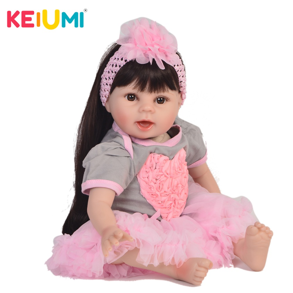 Looks Like Smiling 22 Baby Reborn Princess DIY Toy Silicone Reborn Baby Girl Dolls For Children XMAS Gift Dolls Reborn 55 cmLooks Like Smiling 22 Baby Reborn Princess DIY Toy Silicone Reborn Baby Girl Dolls For Children XMAS Gift Dolls Reborn 55 cm