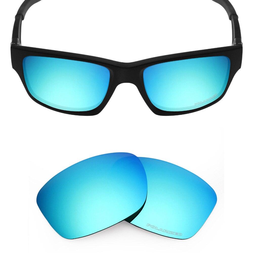 HKUCO Mens Replacement Lenses For qtRtKodvKa Straight Jacket (2007) Sunglasses Blue/Transparent Polarized Cz371