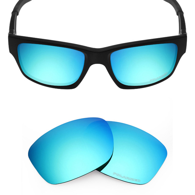 9f7784d291 Mryok+ POLARIZED Resist SeaWater Replacement Lenses for Oakley Jupiter  Squared Sunglasses Ice Blue