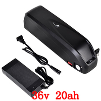 US EU No Tax Hailong down tube E bike Battery 36V 20AH Lithium ion for Panasonic cell Electric Bicycle Battery Pack with 5V USB