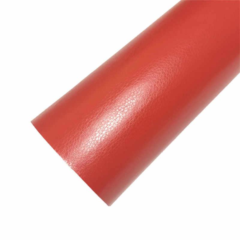 30 cm x 152 cm noir rouge Grain de cuir Texture vinyle autocollant pour voiture feuille de Film autocollant auto-adhésif intérieur voiture style