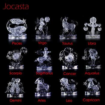 12 konstelacji serii 3D kryształowe Puzzle z migające oświetlenie led DIY zabawkowy model dekoracji wnętrz Puzzle zabawki Kid edukacyjne zabawki] tanie i dobre opinie Jocasta Unisex 12-15 lat 8 lat 6 lat Dorośli 8-11 lat Z tworzywa sztucznego 3D PUZZLE Horoskop układanki do not eat
