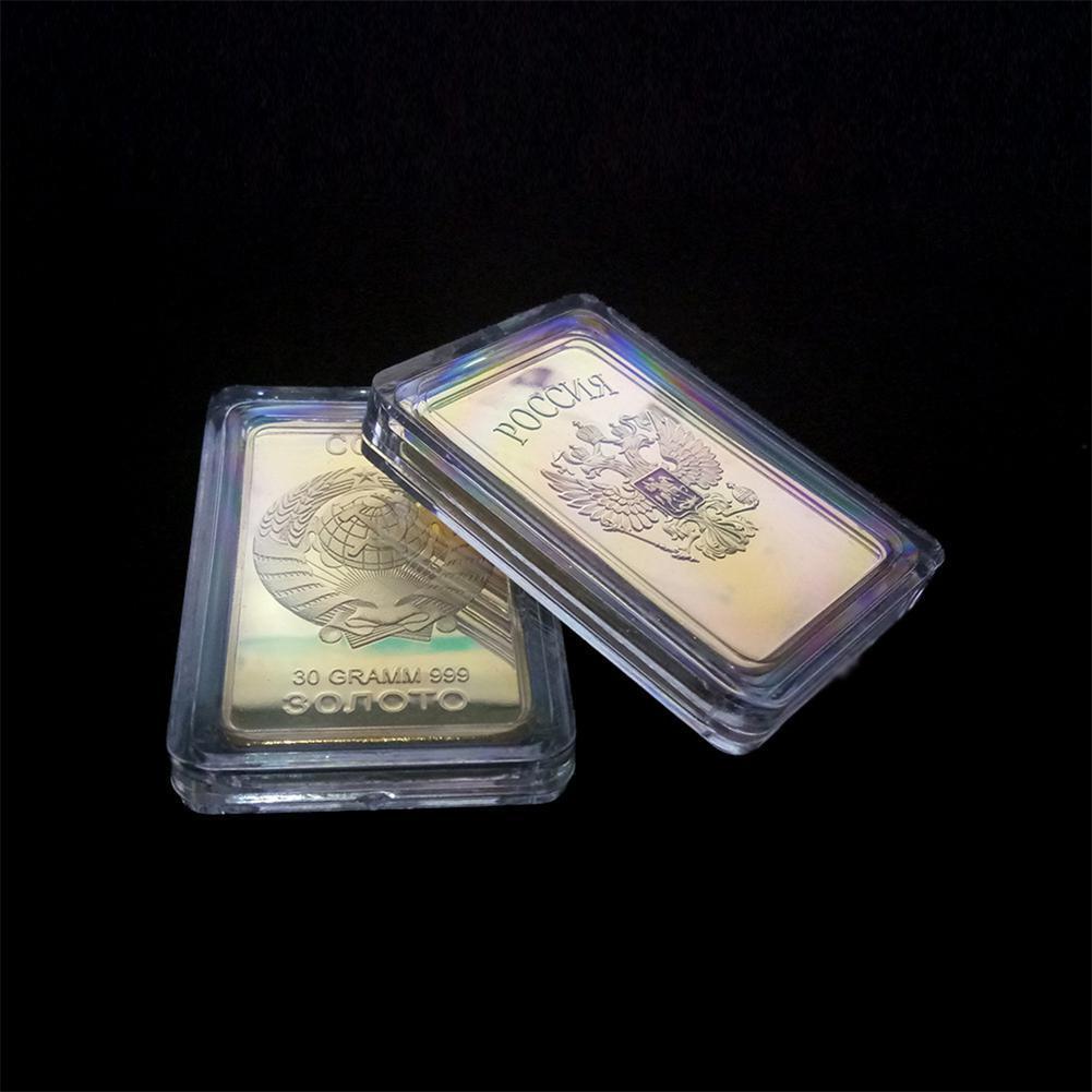 LeadingStar Russia Medal Coin Home Decor Soviet Souvenir USSR Bullion CCCP 24K Gold Bars Commemorative Coins Collection