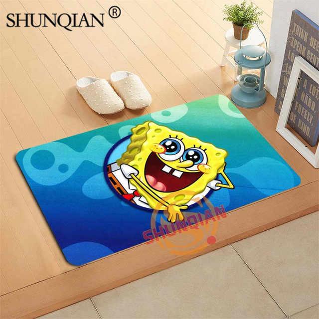 US $12.6 55% OFF|Spongebob Doormat Custom Your Mats Print slip resistant  Door Mat Floor Bedroom Living Room Rugs 40x60cm 50x80cm-in Mat from Home &  ...
