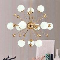 Винтаж Золото Круглый пузырь светодио дный подвесной светильник осветительное оборудование современный люстра, подвесной светильник для