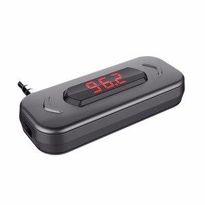 Image 2 - Transmetteur FM Doosl appel mains libres sans fil Audio Radio adaptateur émetteur 3.5mm prise pour iPhone IOS Android haut parleur de voiture