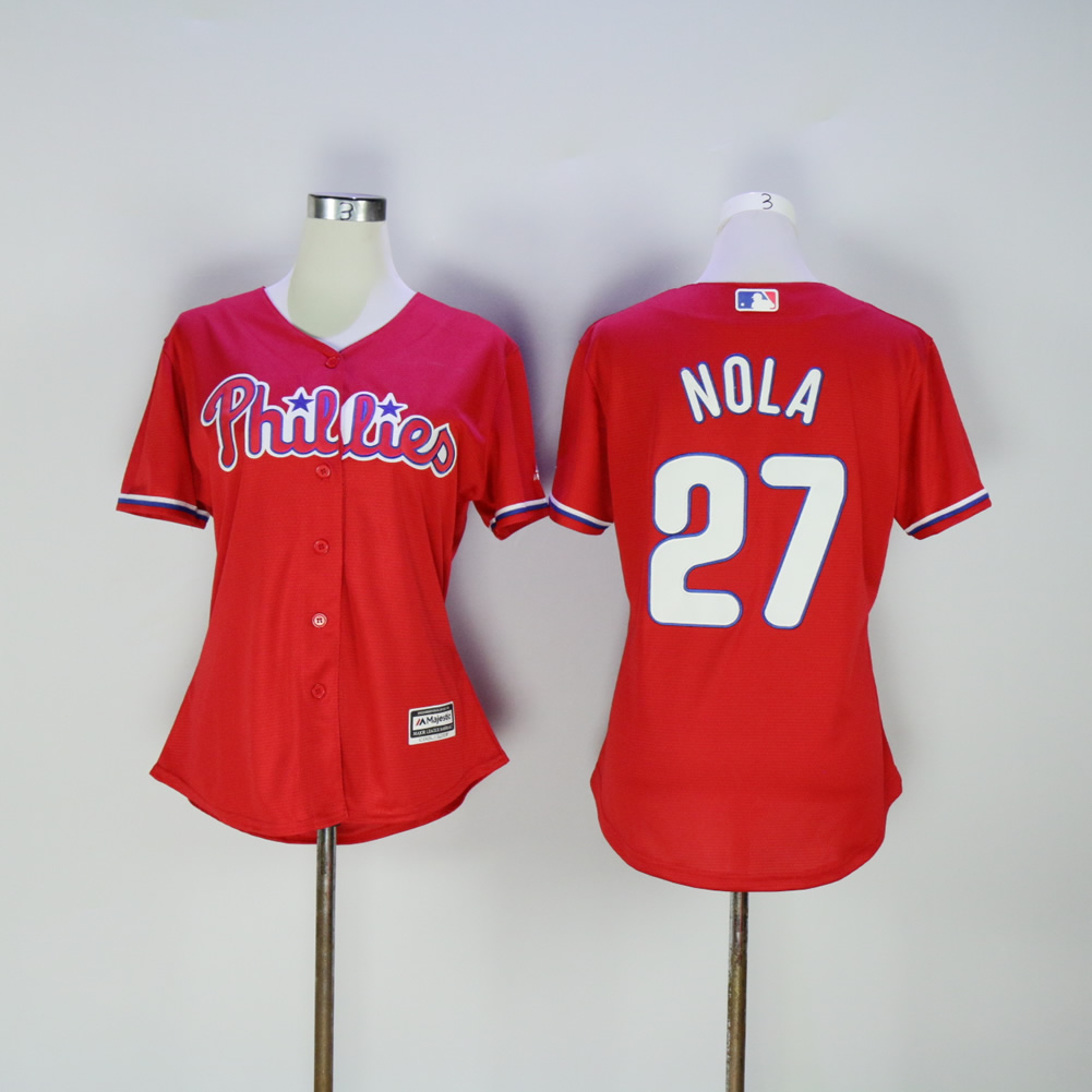 MLB Women Philadelphia Phillies Aaron Nola Flex base jersey