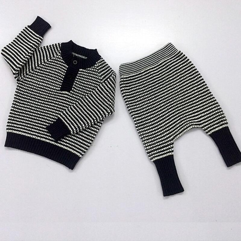 2pcs Baby Cardigan Kids Sweaters Set Tiny Cotton Knit Sweters Sets