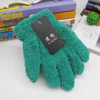 Милые детские перчатки для мальчиков и девочек, теплые зимние варежки