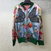 Women's High Quality Sport Coats 2019 New Arrivals Jacket Fashion Outwear Jacket For Women Printed Flower Jacket