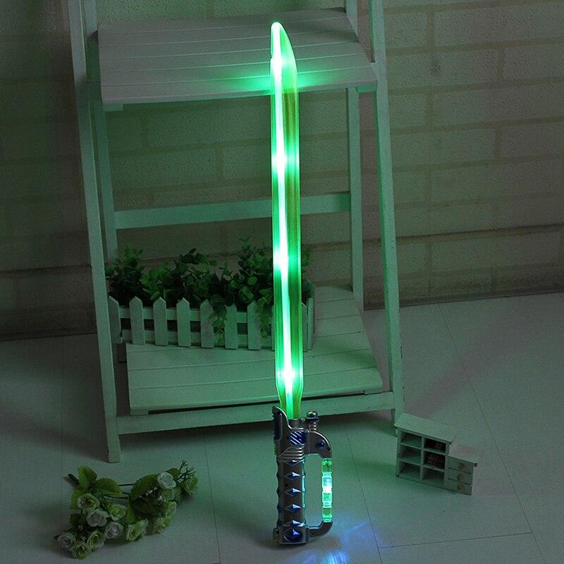 1PCS Star Wars Laser Sword Cosplay Prop Saber Shine Childrens Outdoors Luminous laser Lightsaber Toys Boy Flashing Gift