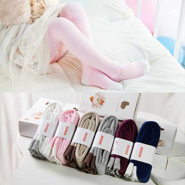 2016 New Winter Baby Girls Tights Children Cotton Warm Pantyhose Kids Stocking For 0-5 Years