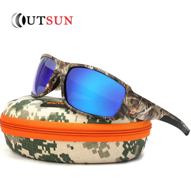 8038e4ed22ef OUTSUN 2017 Polarized Sunglasses Men Women Sport fishing Driving Sun glasses  Brand Designer Camouflage Frame De Sol-in Sunglasses from Men's Clothing ...