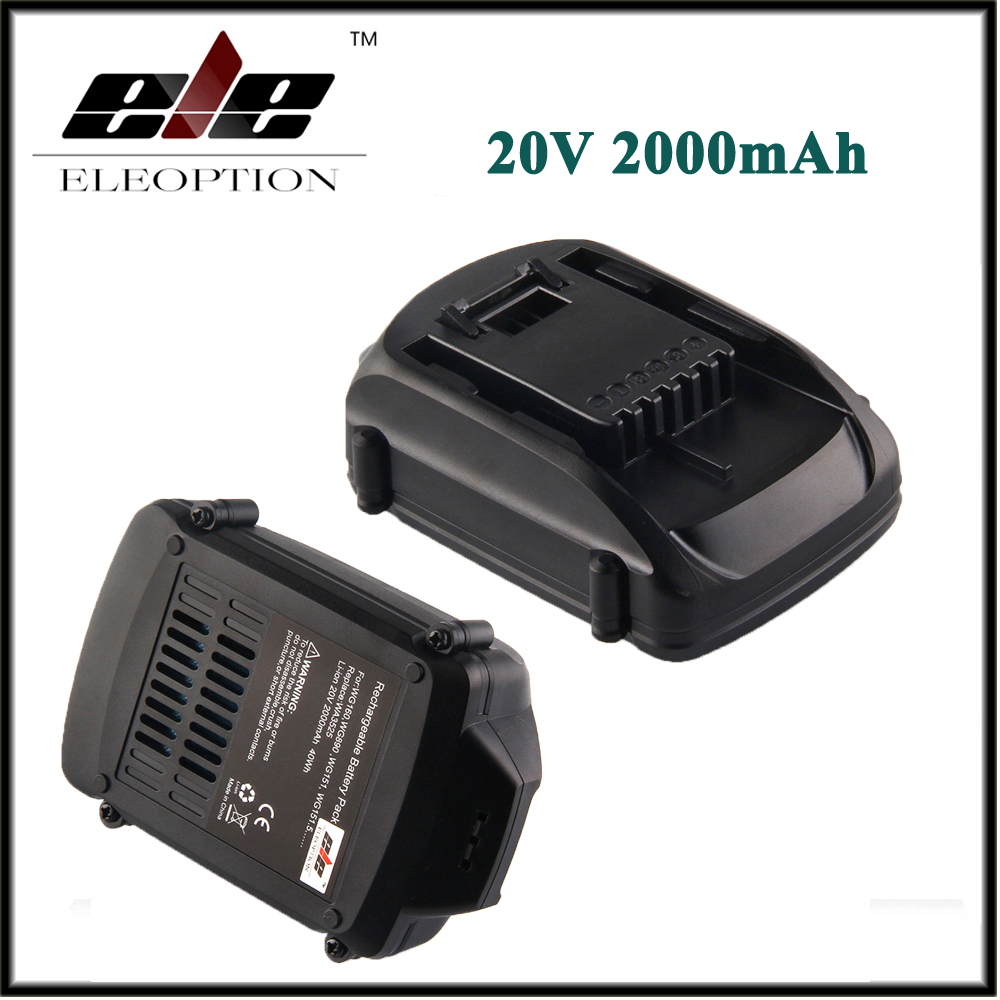 2x20 V 2000 mAh 2.0Ah Batterie De Remplacement Li-ion Pour WORX WA3520 WG545 WG155 WG255 WG251 WG151 WG151.5 WG155 WG155.5