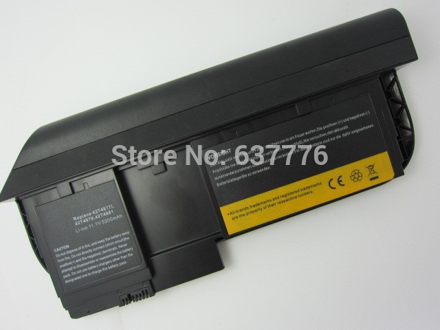 5200 mah bateria do laptop x220t 0a36285 0a36286 42t4877l 42t4879 42t4881 42t4882 para ibm thinkpad tablet series