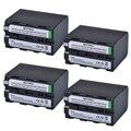 4 pièces NP-F970 F970 NPF970 NP-F960 Rechargeable Batterie pour Sony F975 F970 F960 F950MC1500C 190P 198P F950 MC1000C TR516 TR555