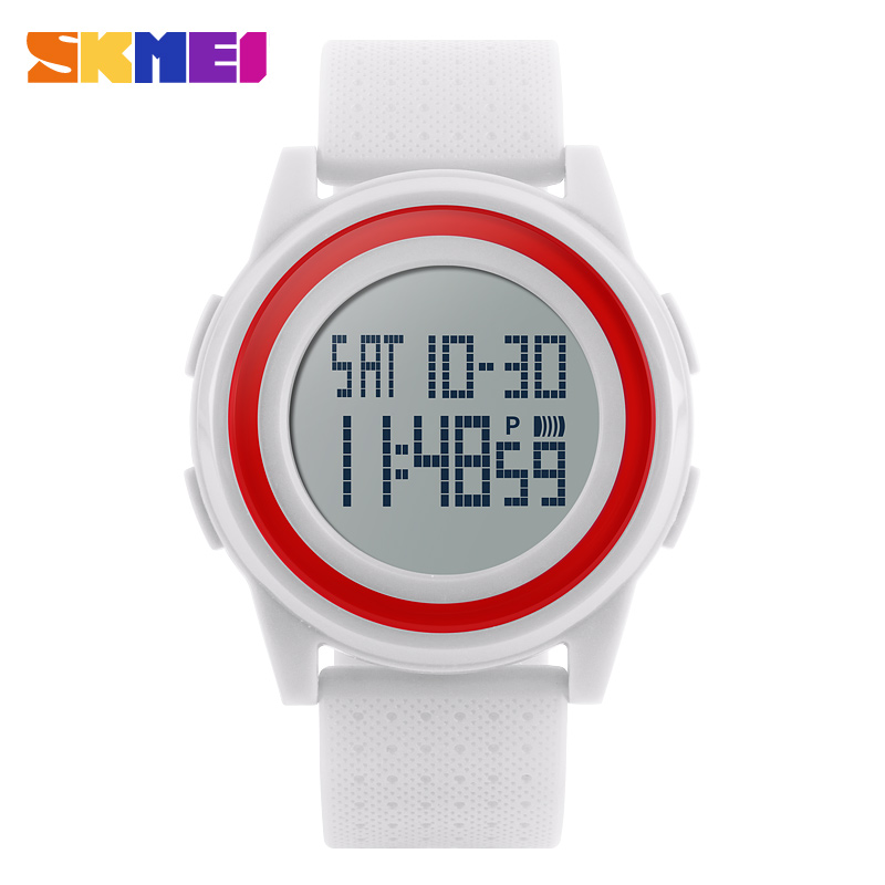 2019 Original Brand Fashion Casual Watch Women Soft Band Thin Ice Cream Jelly Color Waterproof Digital Student Sport Clock <font><b>SKMEI</b></font> image