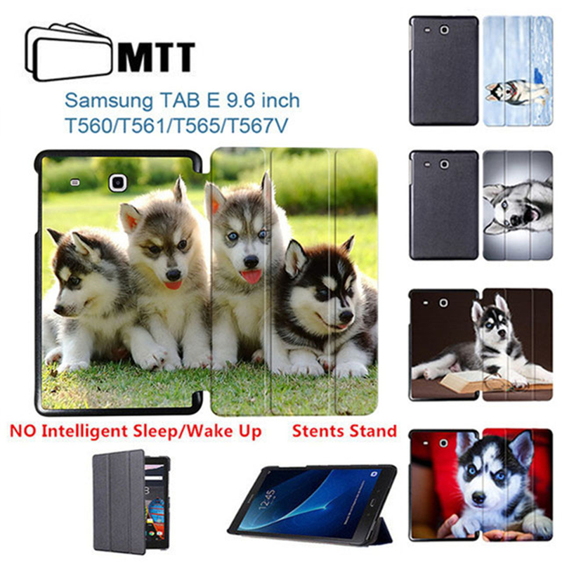 HUSKY Dog Protection shell For Samsung Tab E 9.6 inch Flip Folding Cover Case For Samsung Galaxy Tab E 9.6 SM-T560 T561 Tablet планшеты samsung tab